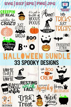 Silhouette Vector Printable Iron On Dxf Png Svg Files Cricut Cut File S Halloween Vinyl, Halloween Designs, Halloween Clipart, Halloween Projects, Halloween Fun, Diy Halloween Shirts, Halloween Phrases, Halloween Printable, Halloween Quotes
