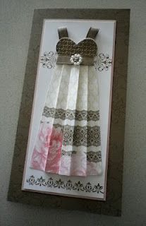 A long dress card. So cute. @Susan Gunter