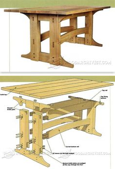 Refectory Table Plans - Furniture Plans and Projects | WoodArchivist.com