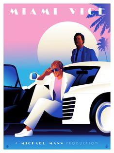 Miami Vice artwork as a tribute to Michael Mann Classic Tv, Classic Movies, Vaporwave, New Retro Wave, Miami Vice Theme, Don Johnson, Tribute, Rebel, Us Cars