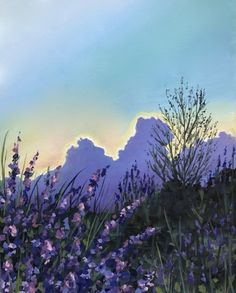 Learn to paint a Lavender Dusk