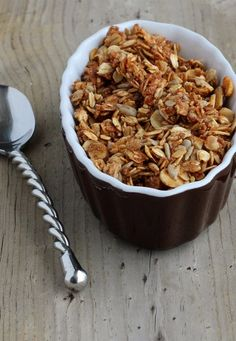 This cinnamon flax granola is packed full of nutrition and flavor. It will start your day off on the right foot and taste great! We