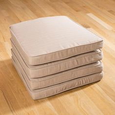 Four Large Outdoor Dining Chair Cushions. Fabric Is 250g Splash Proof  Polyester Which Can