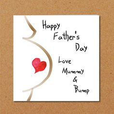 Father's Day Card for new Dad/ partner from bump / unborn #card #fathersday #pregnant