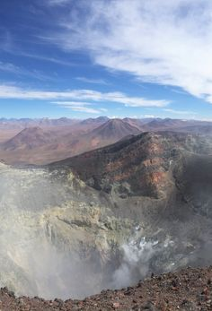 View from the top of Lascar Volcano in Chilean Atacama. At 5600m your lungs are screaming for help!
