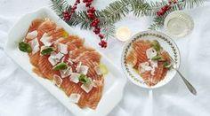 Lohicarpaccio Pasta Salad, Food And Drink, Fish, Health, Ethnic Recipes, Crab Pasta Salad, Health Care, Salud