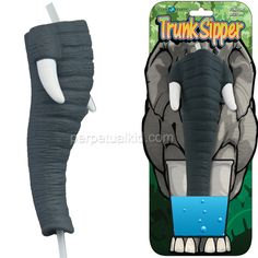ELEPHANT TRUNK SIPPER STRAW: I always did like elephants. I guess now I can drink like one too.