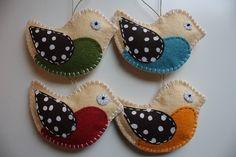 Wool Felt Christmas Patterns | Free Felt Christmas Ornament Patterns | Felt Bird ... | Francesca