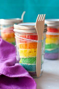 Cupcakes de Arco Iris