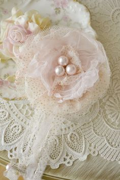 Beautiful Pink and Blush Tulle Gillyflower by Jenneliserose
