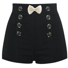 High Waisted Sailor Shorts ❤ liked on Polyvore featuring shorts, bottoms, pants, short, high waisted short shorts, highwaisted shorts, highwaist shorts, high rise shorts and sailor shorts
