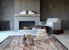 Blogger we love: Judith & Co Exterior Design, Interior And Exterior, Fireplace Design, Fireplace Ideas, New Homes, Living Room, House Styles, Fireplaces, Inspiration