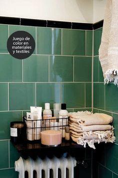 Decoración de baño otoñal : via MIBLOG