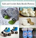 Knit and Crochet Baby Bootie Pattern Round Up