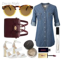 """""""Day to Night: Shirt Dress"""" by poshandy ❤ liked on Polyvore"""