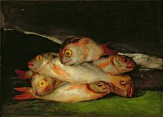 Francisco Goya. 'Still Life with Golden Bream'. Oil on canvas.1808 - 12.