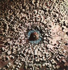 "Aerial view of a city in Southern India - plus it look like the death star at a glance :)    ""Auroville wants to be a universal town where men and women of all countries are able to live in peace and progressive harmony above all creeds, all politics and all nationalities. The purpose of Auroville is to realise human unity."""