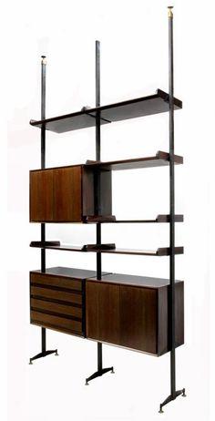 ITALIAN VITTORIO DASSI DESIGN STANDING BOOKCASE : Lot 259 #madmen #mcm #midcentury #Italian #home #design #decor #industrialdesign