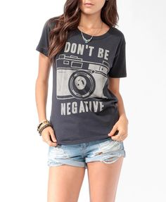 Don't be negative - Photographer T-shirt