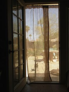 Wonderful DIY Screen Curtains
