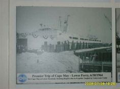 Photos that chronicle the Cape May-Lewes Ferry's maiden voyage in 1964 are displayed in the Lewes terminal.