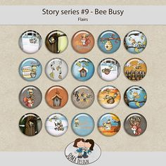 SoMa Design: Bee Busy - Flairs - Story Series #9 Decorative Plates, Bee, Scrapbook, Business, Design, Bees, Scrapbooks, Design Comics, Scrapbooking