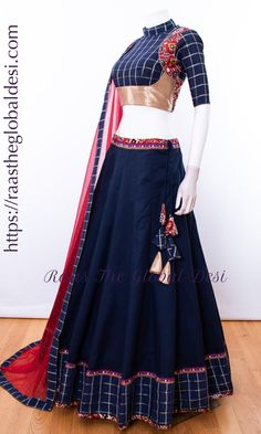 choli-Raas The Global Desi-Chaniya choli-[chaniya_choli]-[chaniya_choli_online_USA]-[chaniya_choli_for_garba]-[chaniya_choli_for_navratri]-Raas The Global Desi Indian Gowns Dresses, Indian Fashion Dresses, Dress Indian Style, Indian Designer Outfits, Indian Outfits, Indian Clothes, Lengha Blouse Designs, Choli Designs, Bridal Blouse Designs