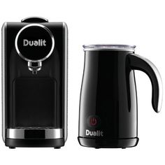 Dualit 85160 Lusso Capsule Coffee Machine & Milk Frother in Silver &…
