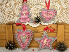 Set of 6 Felt Christmas, Christmas Decorations, Christmas decorations, Christmas felt Felt Ornaments