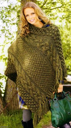 Wisteria wisteria pullover and ponchos knitted poncho pattern just an image and in another language dt1010fo