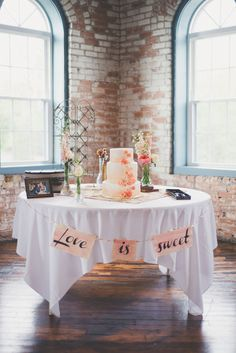 love is sweet cake table ideas