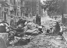 The Allied bombing of Berlin lasted until March 1945. By then, half the homes in Berlin had been damaged and an estimated 20,000-50,000 civilians had been killed. This number would have been much higher were it not for the city's excellent bomb shelters, which often became living quarters for the homeless. This photo shows a bombed street in Berlin. To read more: www.elinorflorence.com/blog/berlin-bombing.