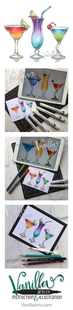 Marker Painting Foundations- online course which changes the way you approach Copic Markers. Week 4 a lesson on rebel blending techniques. | VanillaArts.com