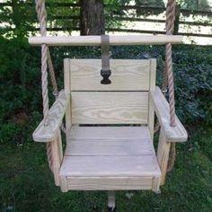Wood Swings Co. Toddler Engravable Toddler Rope Tree Swing