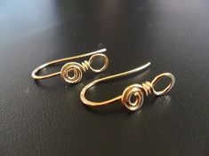 Classic Hooks with Swirl and Loop Ear Earring Wires 23mm in NuGold(Red Brass) 1 Pair on Etsy, $1.99