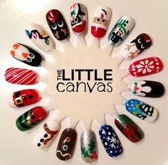 Christmas Nail Art Wheel! - The Little Canvas