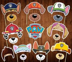 Paw Patrol Party Photo Booth Props  Printable Paw Patrol