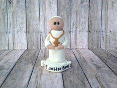 St. Pope John Paul II statue ornament rearview by CalledandChosen
