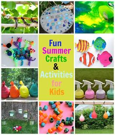 Summer fun crafts & activities for kids! Who can resist water balloon pinatas?