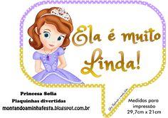 plaquinhas divertidas Princesa Sofia Disney, Plaquinhas engraçadas, Plaquinhas para fotos, plaquinhas para Selfie, ideias princesa Sofia, festa princesa sofia