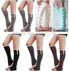 Lace button down Leg Warmers Ballet Dance Warm up knitted booty Gaiters Boot Cuffs - Google-haku