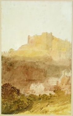 Joseph Mallord William Turner 'Durham Castle', 1801 - Watercolour and graphite on paper - Dimensions Support: 404 x 250 mm - © Leeds Museums and Galleries (City Art Gallery), UK/ courtesy Bridgeman Art Library Joseph Mallord William Turner, Watercolor Landscape Paintings, Watercolor And Ink, Canvas Paintings, Durham Castle, Durham City, Art Romantique, Turner Watercolors, Turner Painting