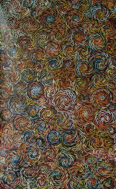 Australian Aboriginal Art Painting by Bernadine Johnson Kamara - Bush Medicine Leaves - 150 x 92 cm - BJ1876 #art #aboriginal #painting