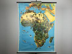 Wandkaarten van Afrika