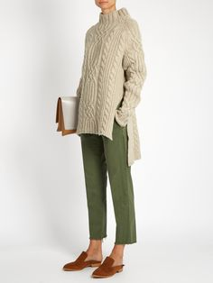 East Hampton mid-rise cotton-blend chino trousers | Nili Lotan…
