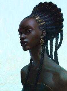 Mangbetu Hairstyle by Adrian Wilkins