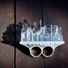 Cityscapes Knuckle Duster Ring | Christina Elleni