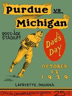The Wolverines had a bit of an off year before going unbeaten in 1930, but 1929 was the year of the Boilermakers' finest team, as they ran the table with ease and made a good case for a mythical National Championship.