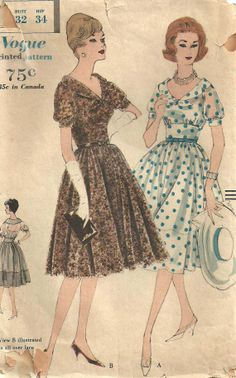 Vogue 9935 Vintage 60s Sewing Pattern Dress And by studioGpatterns, $18.50