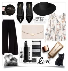 """❀ woho ❀"" by weirdbutsuitablepersona ❤ liked on Polyvore featuring Rebecca Taylor, Victoria, Victoria Beckham, Yves Saint Laurent, Mansur Gavriel, Dorfman Pacific, philosophy and Nude by Nature"